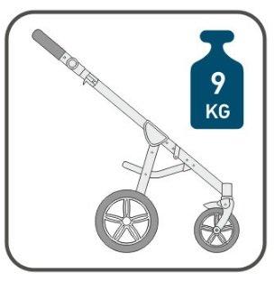 Вес рамы коляски Roan BassSoft